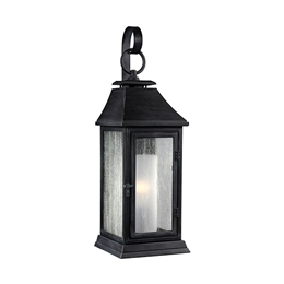 Elstead FE/SHEPHERD/2S Small Wall Lantern in Dark Weathered Zinc Finish.