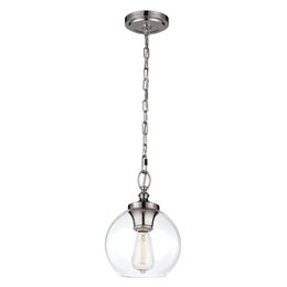 Elstead Lighting Feiss FE/TABBY/P/S Tabby Mini Pendant in Polished Nickel finish
