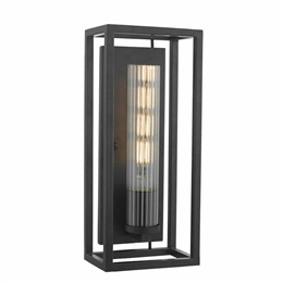 Dar FEL0722 Felipe 4 Light Wall Light with Ribbed Glass