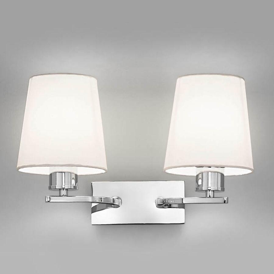 Franklite lighting fl208221123 hexx chrome twin wall light aloadofball Gallery