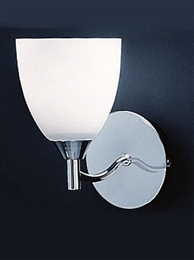 Franklite Lighting FL2087/1 Emmy Single Wall Light in Chrome Finish.