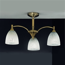 ... Franklite FL2105/3 Emmy 3 Light Ceiling Fitting in Bronze finish & Ceiling_Lights azcodes.com