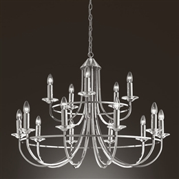 Franklite FL2146/15 Carousel 15 Light Fitting in Polished Chrome finish. & Ceiling_Lights azcodes.com