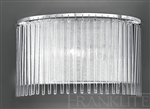 Franklite FL2190/1 Eros Single Light Wall Light with Glass Rods.