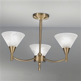 Franklite FL2251/3 Harmony 3 Light fitting in Bronze finish.
