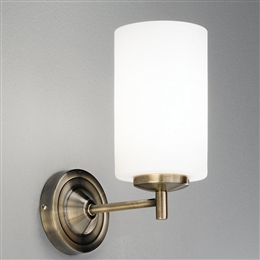 Hull Lighting FL2253/1 Decima Single Wall Light in Bronze finish