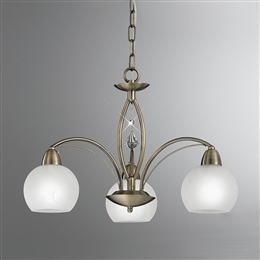 Hull Lighting FL2278/3 Thea 3 Light Ceiling Fitting in Bronze finish