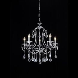 Franklite FL2330/5 Cinzia 5 Light Crystal Chandelier