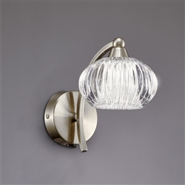 Hull Lighting FL2335/1 Ripple 1 Light Wall Light
