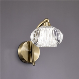 Hull Lighting FL2336/1 Ripple 1 Light Wall Light