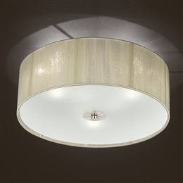 Franklite FL2341/3 Desire 3 Light Satin Nickel Finish Flush