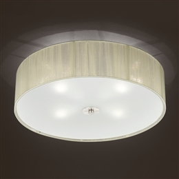 Franklite FL2341/4 Desire 4 Light Satin Nickel Finish Flush