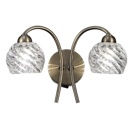 Hull Lighting FL2358/2 Vortex 2 Light Wall Light in Bronze finish.