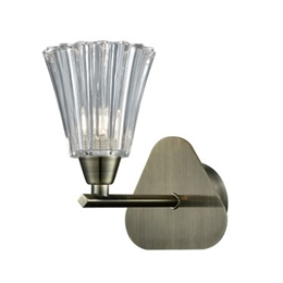 Hull Lighting FL2378-1 Clemmy Single Wall Light in Bronze Finish.