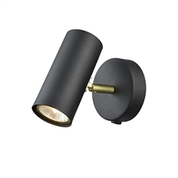 Franklite Lighting FL2402/1 Wall Light in Black and Gold finish.
