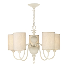 David Hunt FLE0533 Flemish 5 light Pendant in Cream finish