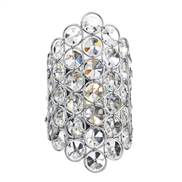 Dar Lighting FRO0750 Frost 1 Light Crystal Wall Light