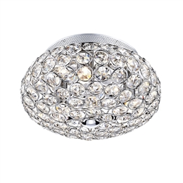 Dar Lighting FRO5350 Frost 3 Light Flush Crystal Ceiling Fitting