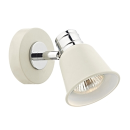 Dar FRY0733 Fry Single Wall Spotlight in Pale Cream Finish