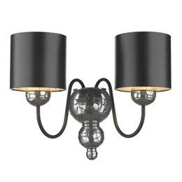 David Hunt Lighting GAR0921 Garbo Twin Wall light in Pewter Finish