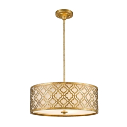 Elstead GN/ARABELLA/P/L 3 Light Large Pendant in Distressed Gold Finish