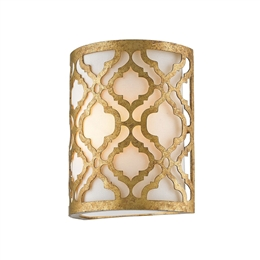 Elstead GN/ARABELLA1 1 Light Wall Light in Distressed Gold Finish
