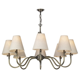 David Hunt HIC0875 Hicks 8 light Solid Brass Pendant