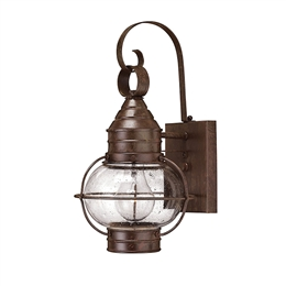 Elstead Hinkley HK/CAPECOD2/S Solid Brass Exterior Wall Lantern