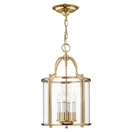 Elstead HK/GENTRY/P/M PB Gentry 4 Light Pendant in Polished Solid Brass