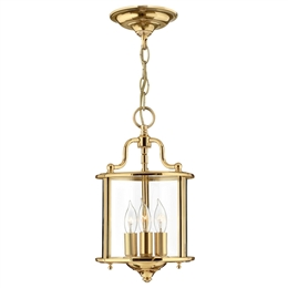 Elstead HK/GENTRY/P/S PB Gentry 3 Light Pendant in Polished Solid Brass