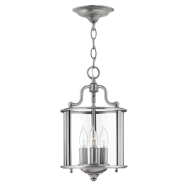 Elstead HK/GENTRY/P/S PW Gentry 3 Light Pendant in Pewter Finish
