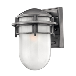 Elstead HK/REEF/SM HE Reef Small Outdoor Wall Light in Hematite finish