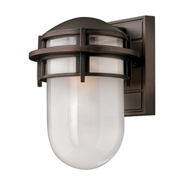 Elstead HK/REEF/SM VZ Reef Small Outdoor Wall Light in Victorian Bronze finish