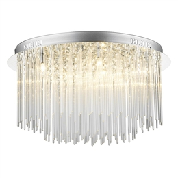 Dar ICI4850 Icicle 8 Light Polished Chrome Semi-Flush Fitting.CU1693