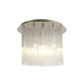 Diyas IL30013 Zanthe 10 Light Ceiling fitting in Polished Chrome finish.
