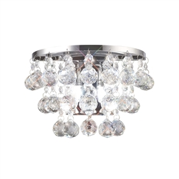 Diyas IL30014 Atla Crystal Wall Light in Chrome finish