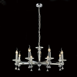 Diyas IL30598 Renzo 8 Light Ceiling Fitting in Polished Chrome finish.