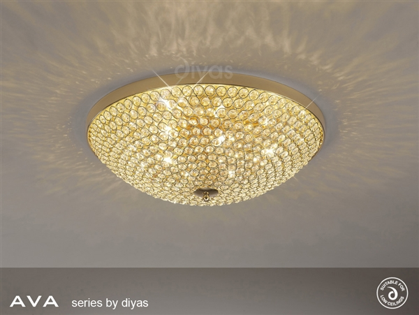 Diyas il30757 ava 6 light crystal flush ceiling fitting in french diyas il30757 ava 6 light crystal flush ceiling fitting in french gold finish aloadofball Gallery