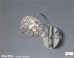 Diyas IL30931 Cara 1 light Satin Nickel Wall Light
