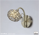 Diyas IL30941 Cara 1 light Antique Brass Wall Light