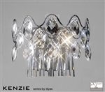 Diyas IL31060 Kenzie 3 light polished chrome and crystal wall light