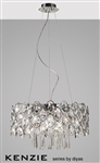Diyas IL31061 Kenzie 10 light polished chrome and crystal pendant