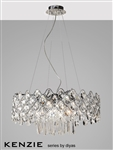 Diyas IL31062 Kenzie 16 light polished chrome and crystal pendant