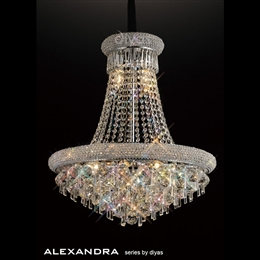 Diyas IL31451 Alexandra 13 Light Crystal Chandelier in Polished Chrome finish