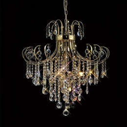 Diyas IL32056 Rosina 7 Light Pendant in French Gold Finish.