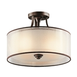 Elstead Lighting Kichler KL/LACEY/SF MB Lacey 3 Light Semi Flush fitting
