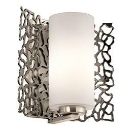 Elstead KL/SILCORAL1 Silver Coral Single Wall Light