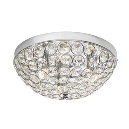 Dar Lighting KYR5350 Kyrie 3 Light Crystal Flush Fitting