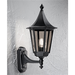 Franklite LA1605-1 Boulevard 1 Light Matt Black Wall Bracket