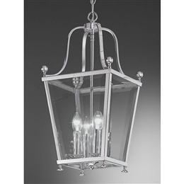 Hull Lighting LA7002/4 Atrio 4 Light Lantern in Chrome Finish.